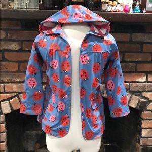 Hatley Ladybug runt Lined Raincoat size 6